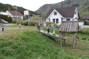 Leiketårnet frå barneskulen er flytt til Nilstræet